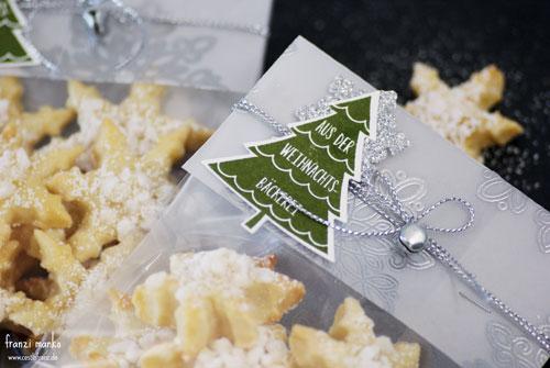 Plätzchen aus der Weihnachtsbäckerei im Detail