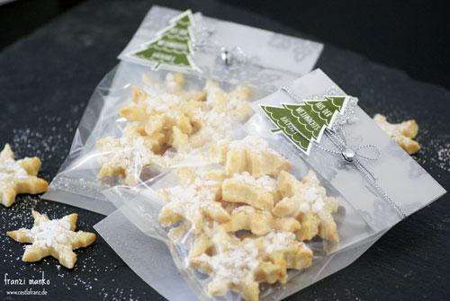 Plätzchen aus der Weihnachtsbäckerei