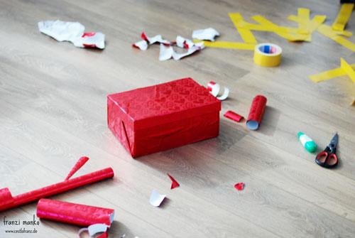 Weihnachten im Schuhkarton das Chaos