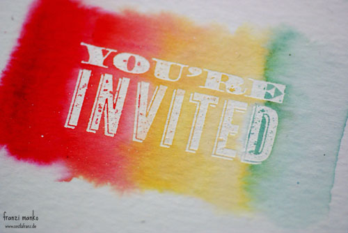 Farbenfroh: Aquarell Einladung