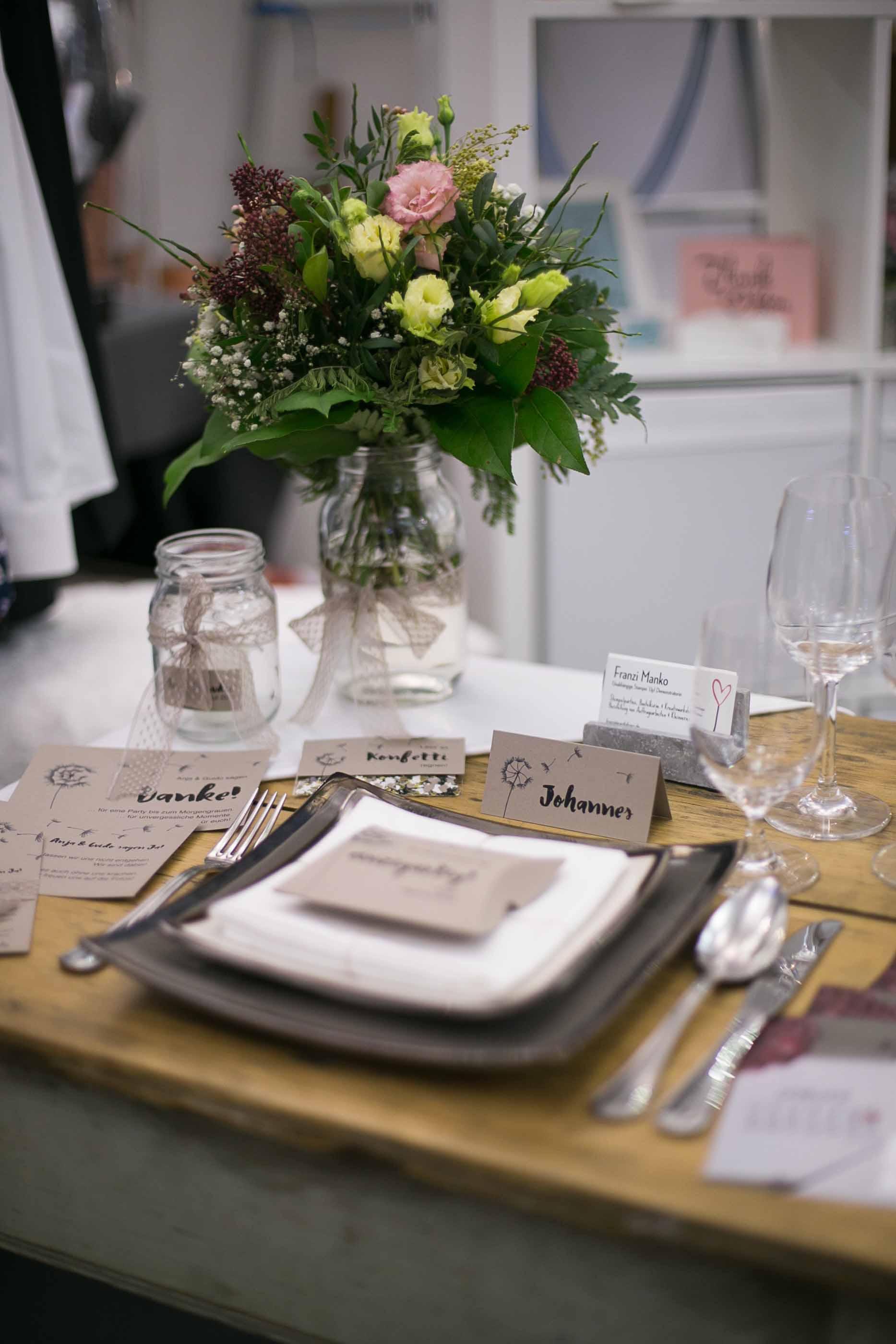 JAwort Hochzeitsmesse Tischdekoration
