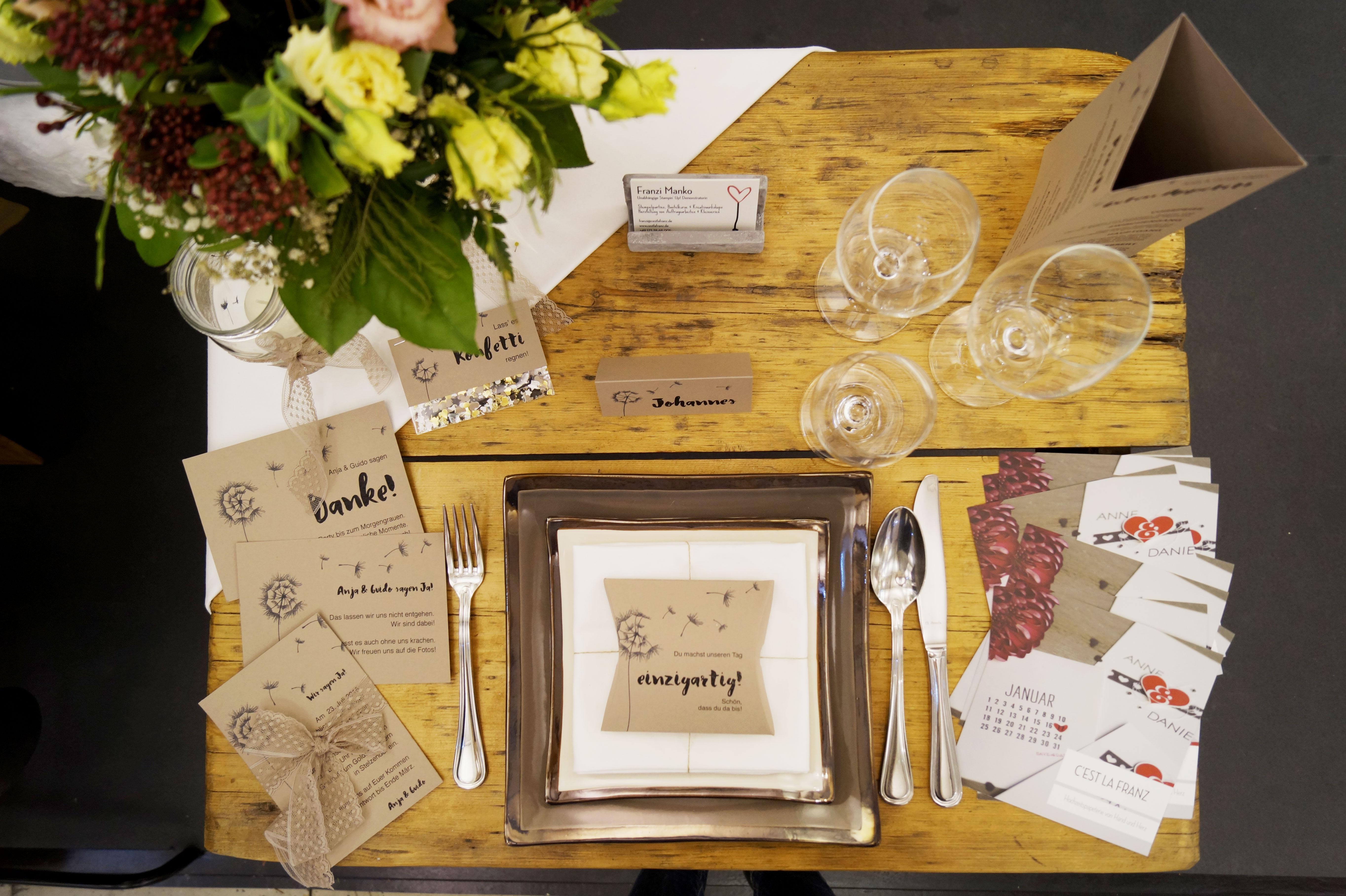 JAwort Hochzeitsmesse Tischpapeterie