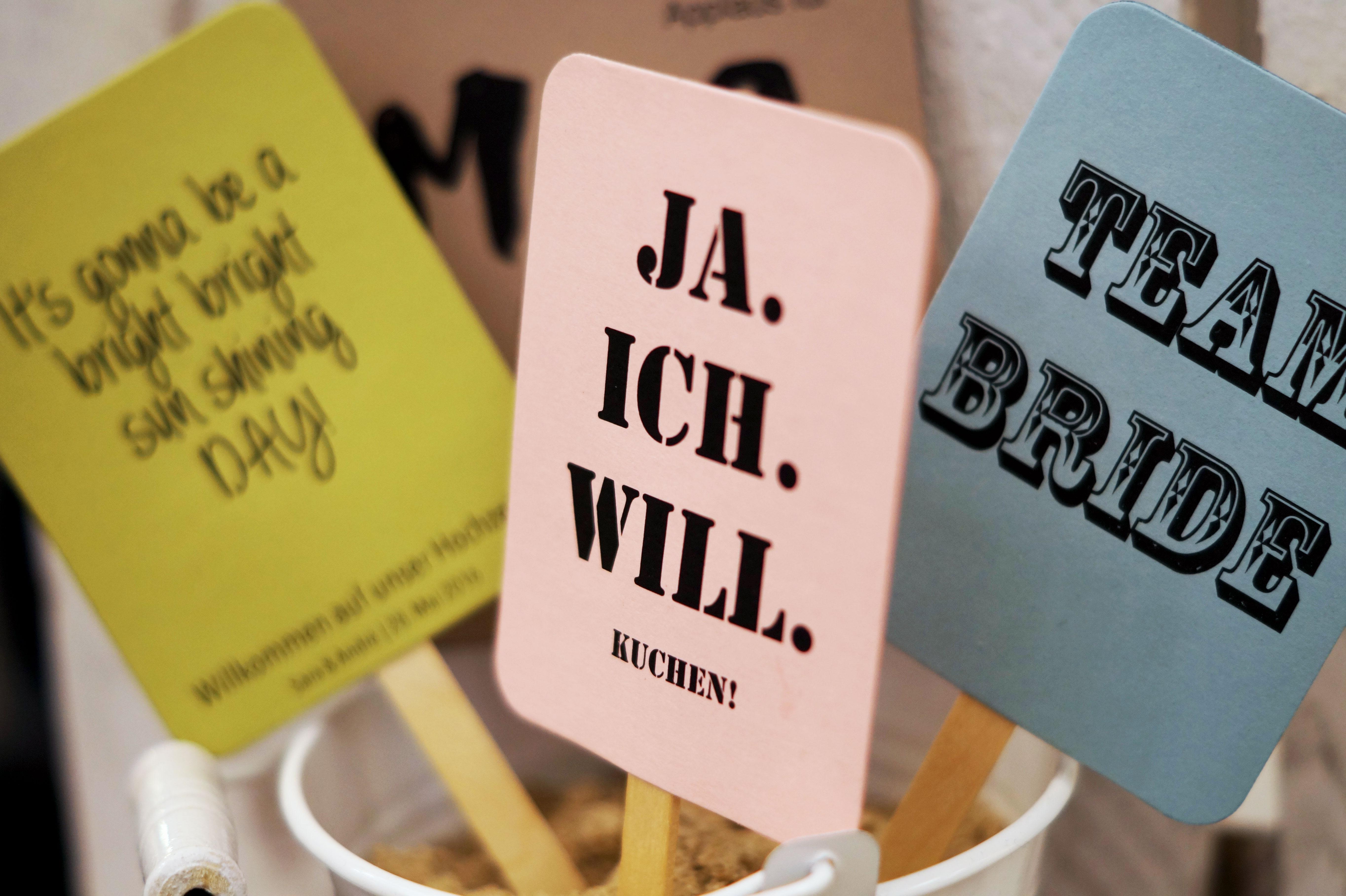 JAwort Hochzeitsmesse Papeterie Details