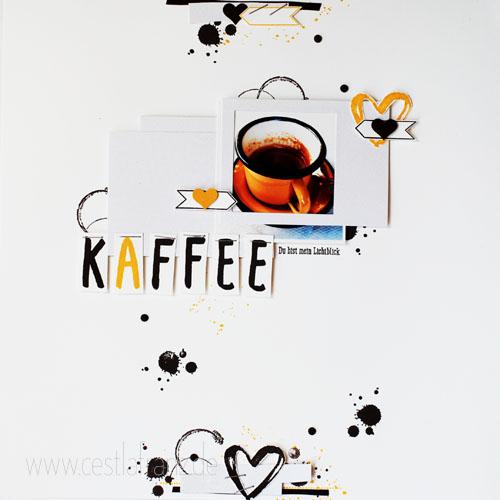 Wortspielereien Layout Kaffee - Vollansicht