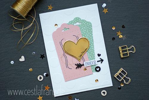 Grußkarte: Mit Liebe Geschenkt