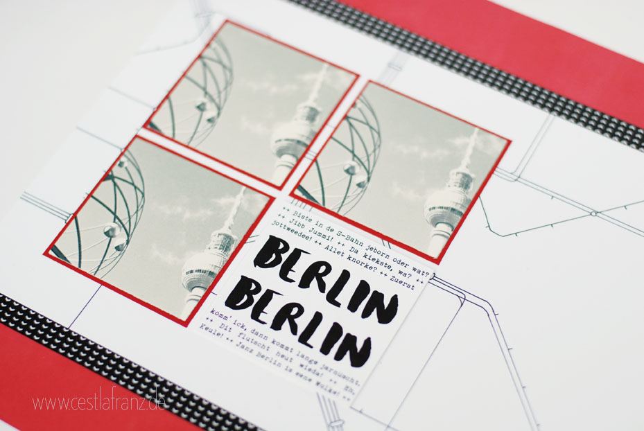 Stampin Up Bärchengruß Layout 12x12