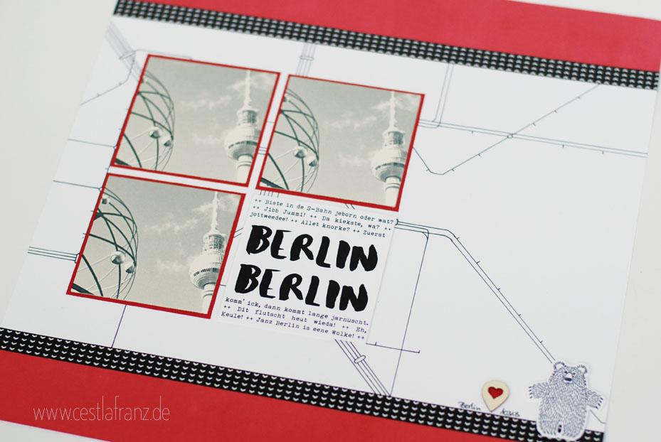Stampin Up Bärchengruß Layout 12x12