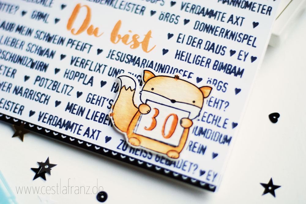 Stampin Up Moment Stempel Klartext Stempel Mama Elephant Three Amigos 30. Geburtstag