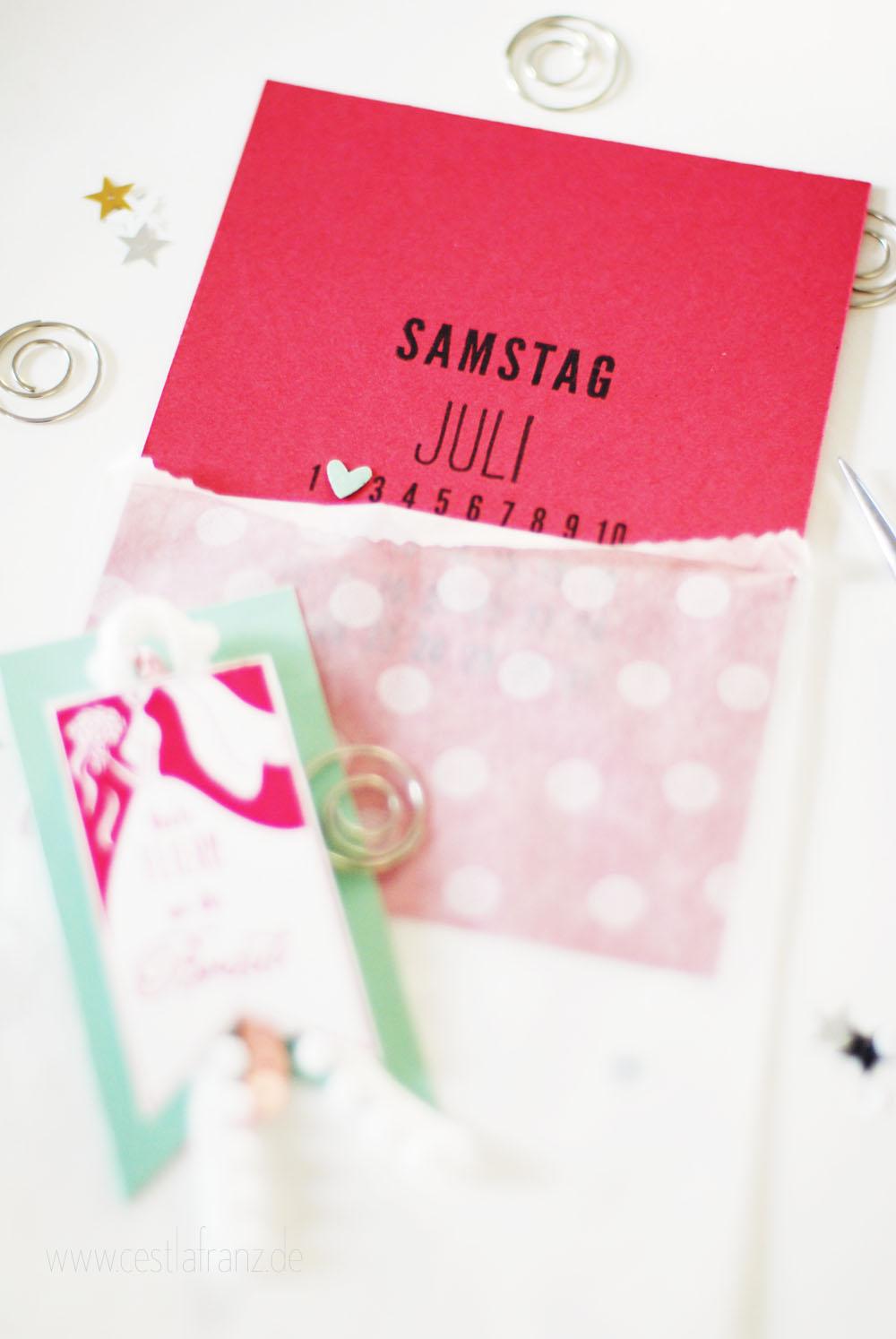Stampin Up Einladung Brautparty JGA
