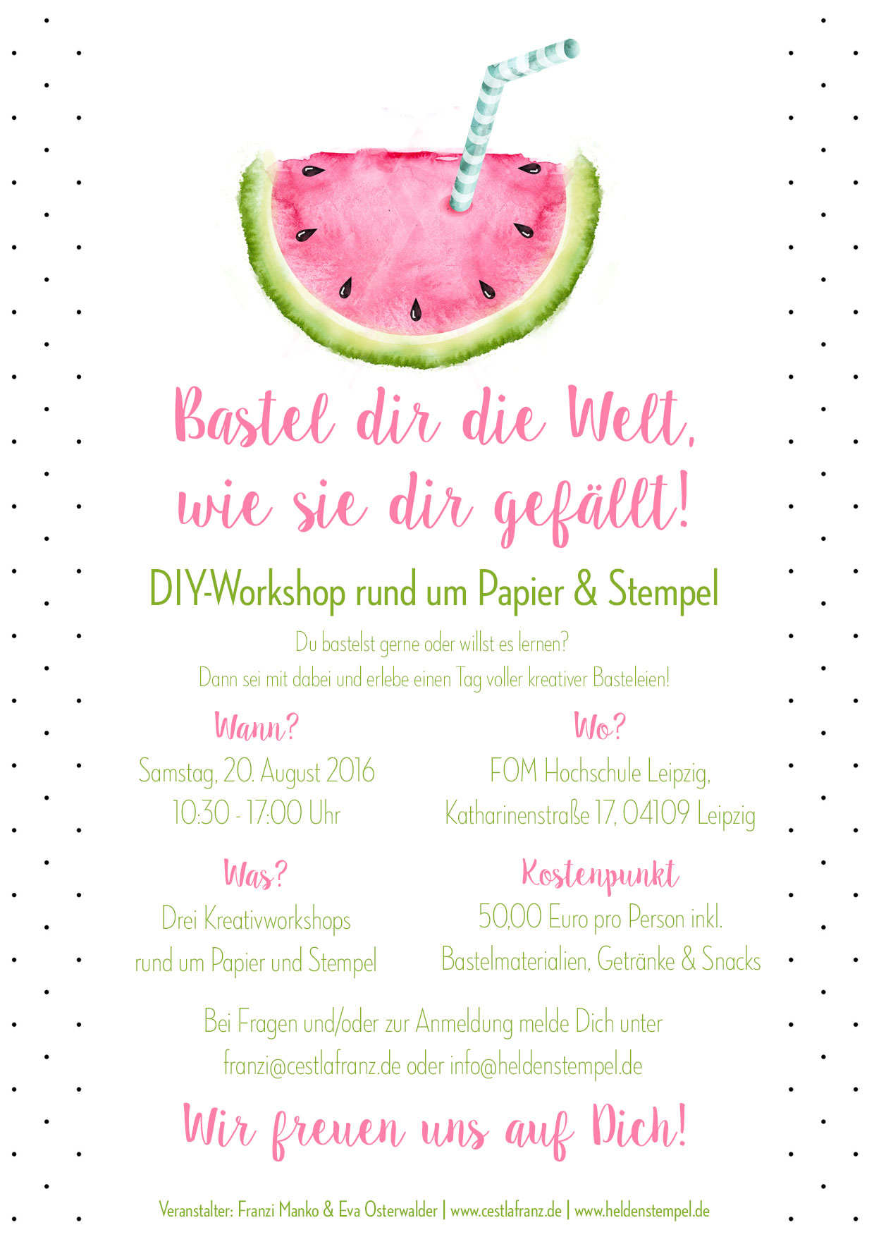 Flyer DIY-Workshop Leipzig Stampin Up