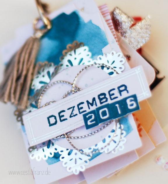 Projektset Drauf und dran Stampin Up Mini Album December Daily