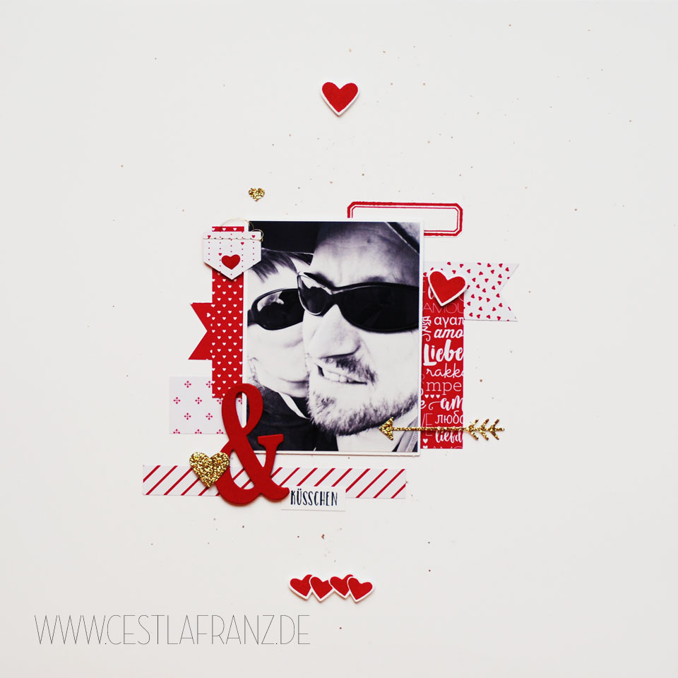 Inspiration & Art Produkt Reihe Liebe Grüße Layout 12x12
