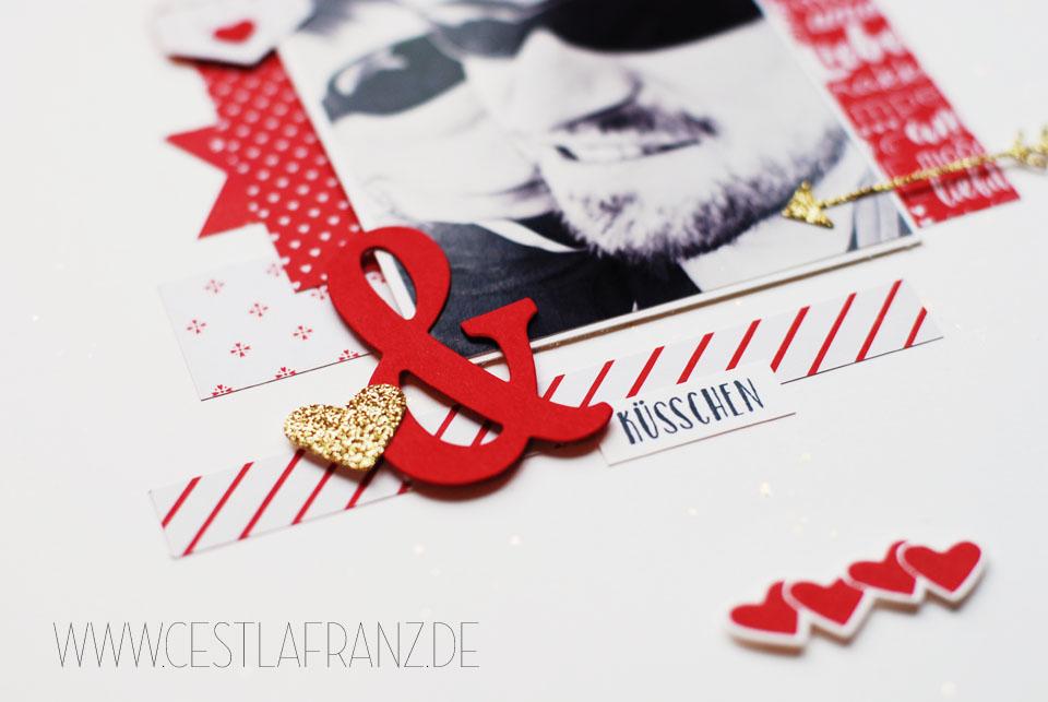 Inspiration & Art Produkt Reihe Liebe Grüße Layout 12x12 (Detail)