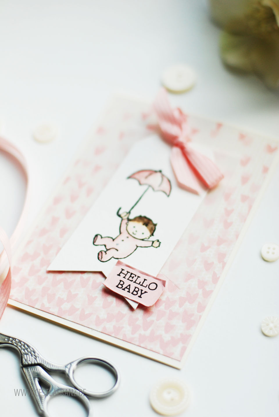 Baby Karte Moon Baby Stampin Up