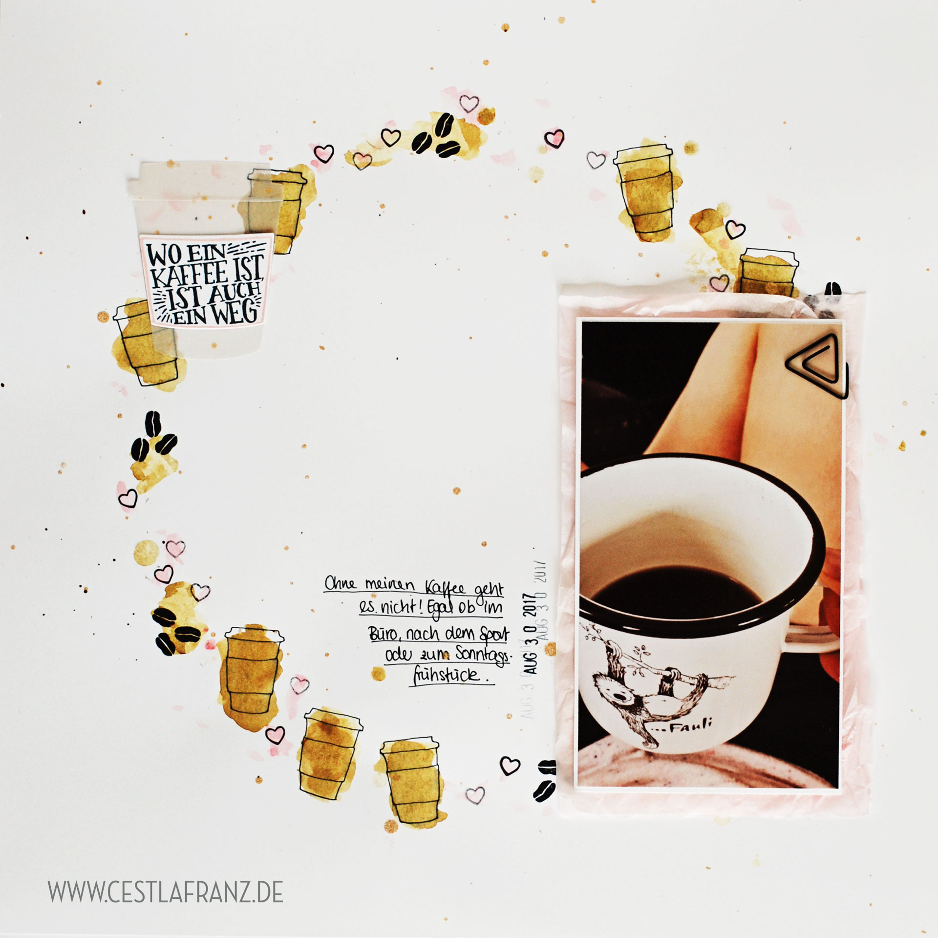 Kaffee olé Layout Kaffeepause Inspiration & Art
