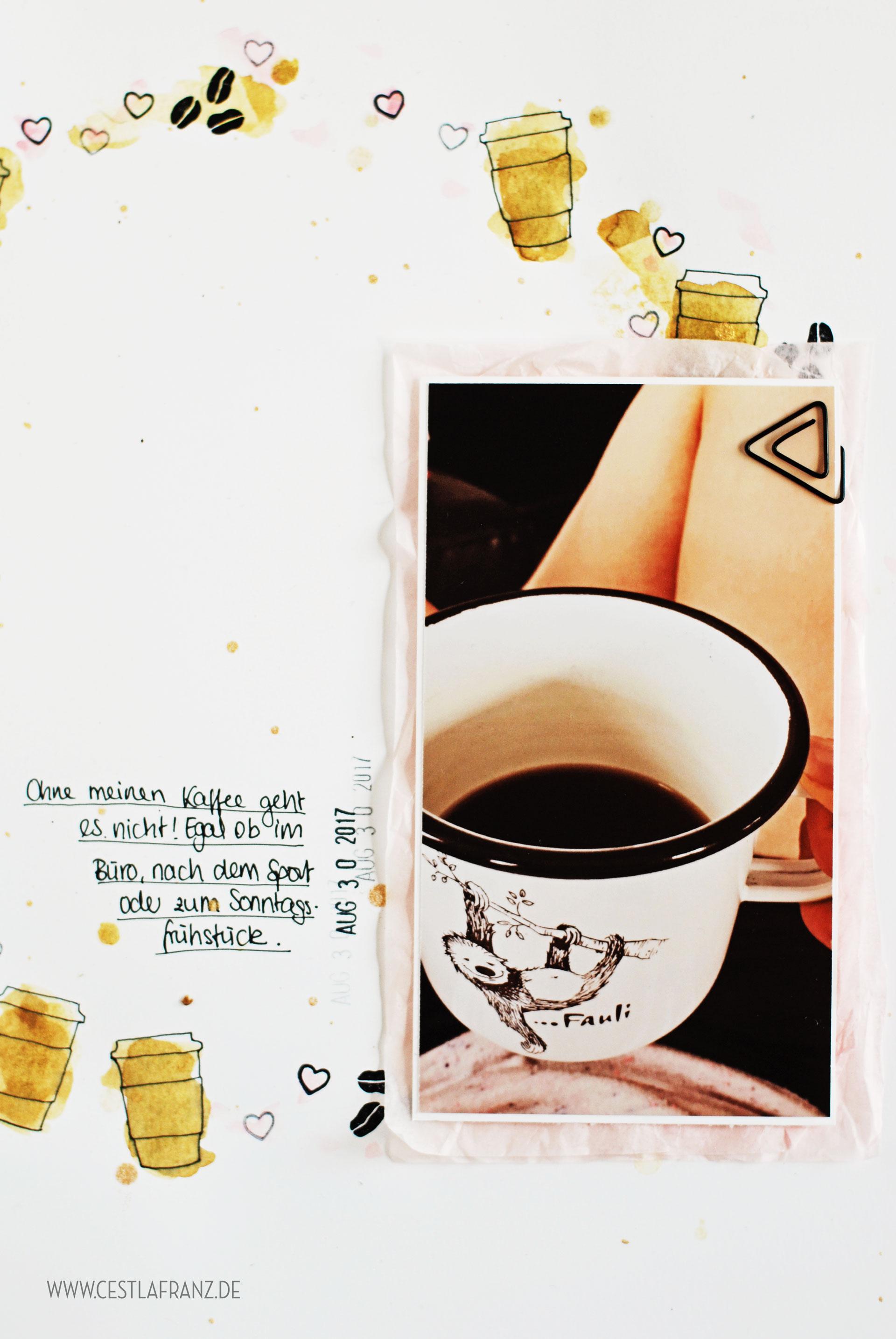 Kaffee olé Layout Kaffeepause Inspiration & Art